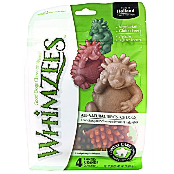 Whimzees Dog Treats / Size Large / 4 Ct. / Hedgehog