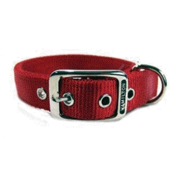 Deluxe Double Thick Dog Collar 1 Inch / Size 20 In. / Red