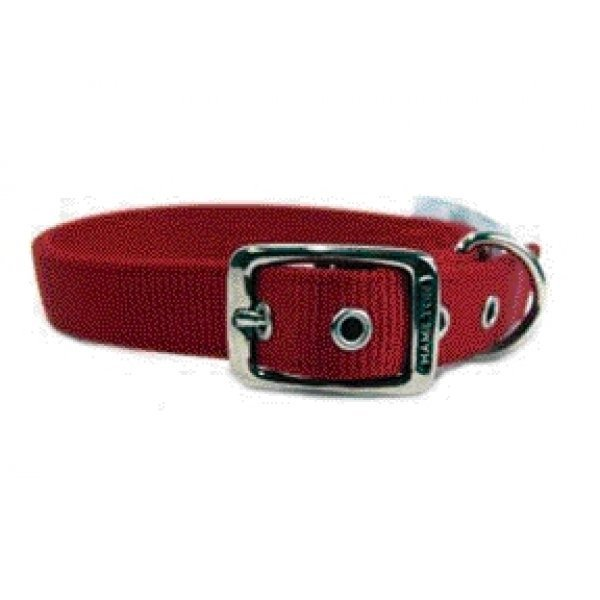 Deluxe Double Thick Dog Collar 1 Inch / Size 24 In. / Red