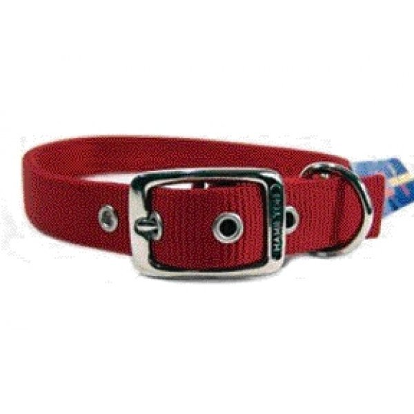 Deluxe Double Thick Dog Collar 1 Inch / Size 26 In. / Red