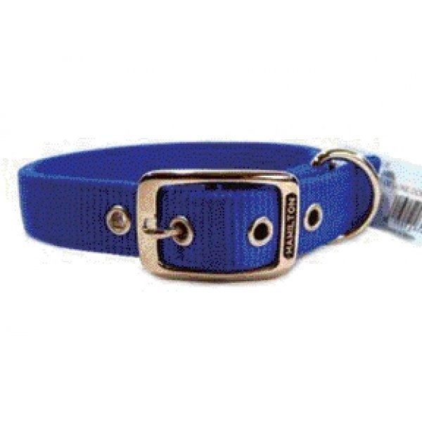 Deluxe Double Thick Dog Collar 1 Inch / Size 20 In. / Blue