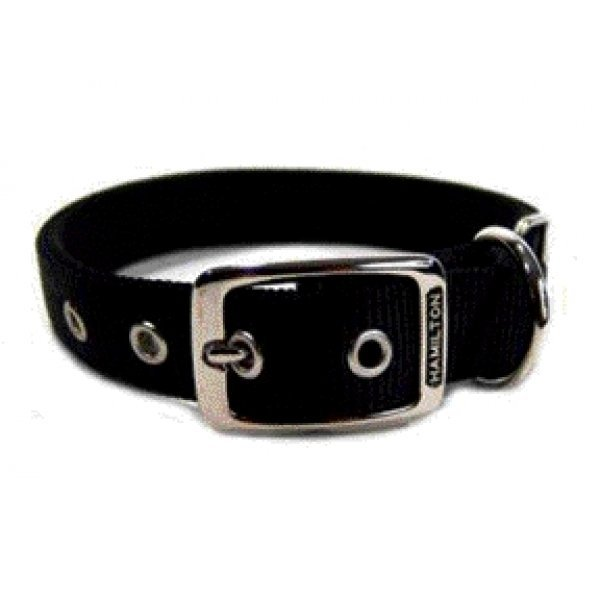 Black Double Thick Dog Collar 1 Inch / Size 20 In. / Black