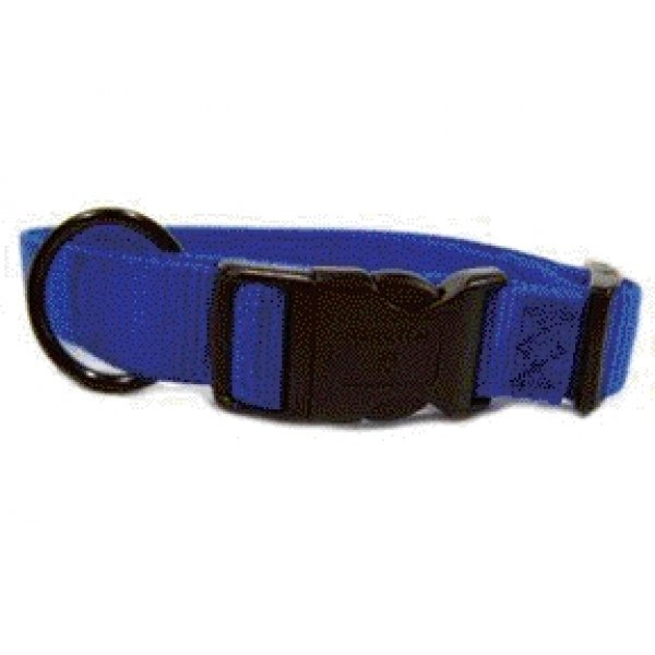 Adjustable 1 In. Dog Collar 18 26 In / Color Blue