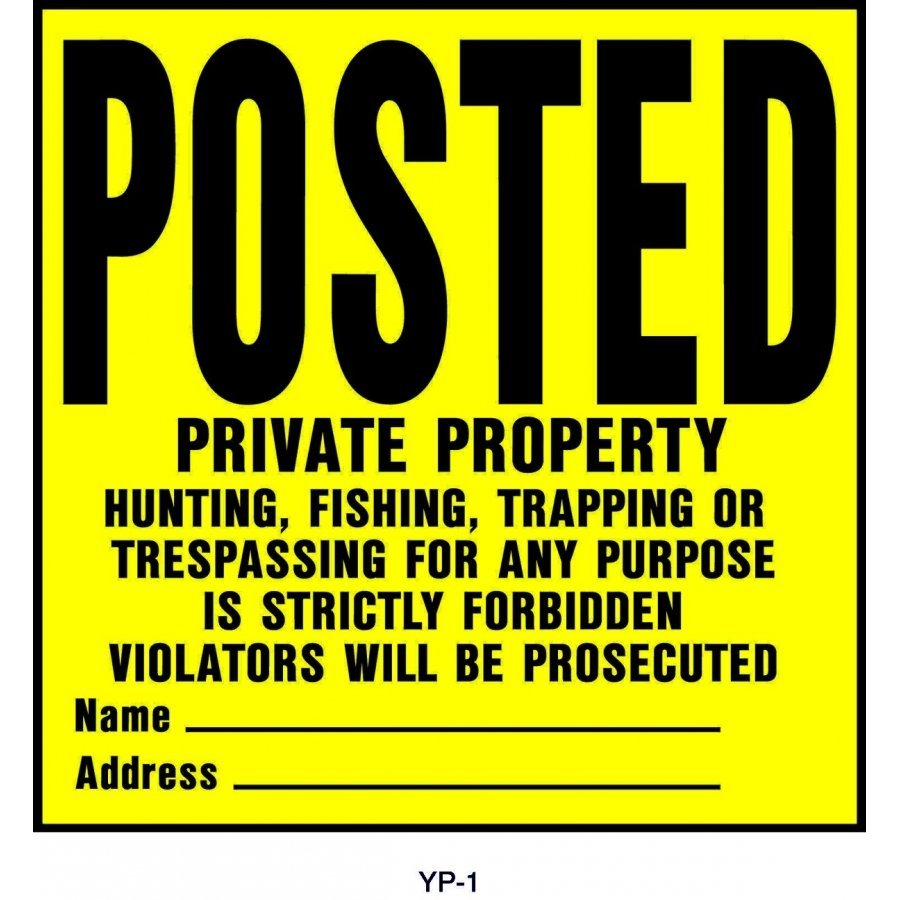 Posted Private Property Sign 11x11  (Case of 20) Best Price