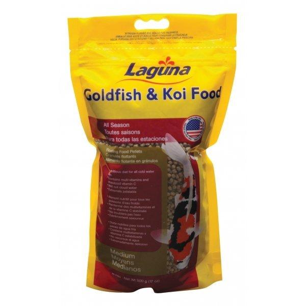 Gold/koi Floating Food Pellets / Pellets Medium / 17 Oz.