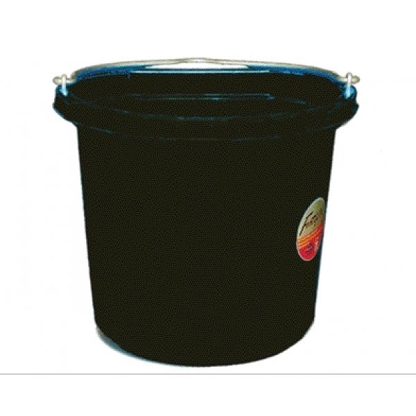 Flat Back Bucket 24 qt. / Color (Black) Best Price