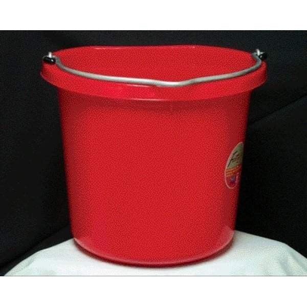 Flat Back Bucket 24 qt. / Color (Red) Best Price