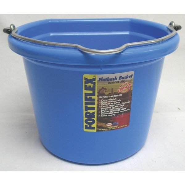8 Qt. Flatback Household Bucket / Color (Sky Blue) Best Price