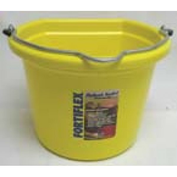 8 Qt. Flatback Household Bucket / Color (Mellow Yellow) Best Price