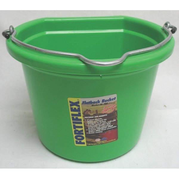 8 Qt. Flatback Household Bucket / Color (Light Green) Best Price