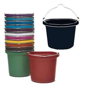 8 Qt. Flatback Household Bucket / Color (Orange) Best Price