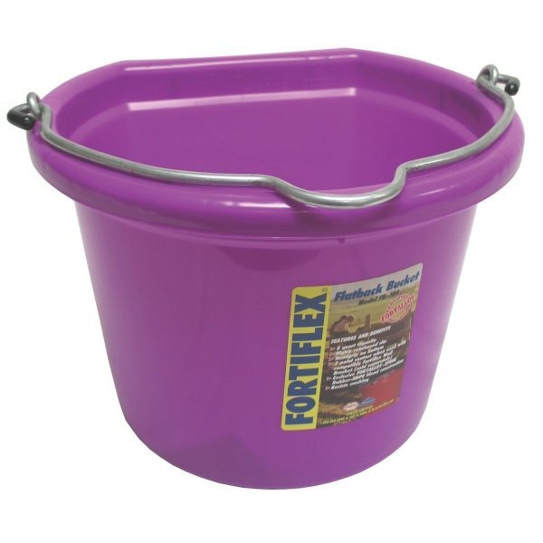 Flatback Bucket - 8 qt. / Violet Best Price