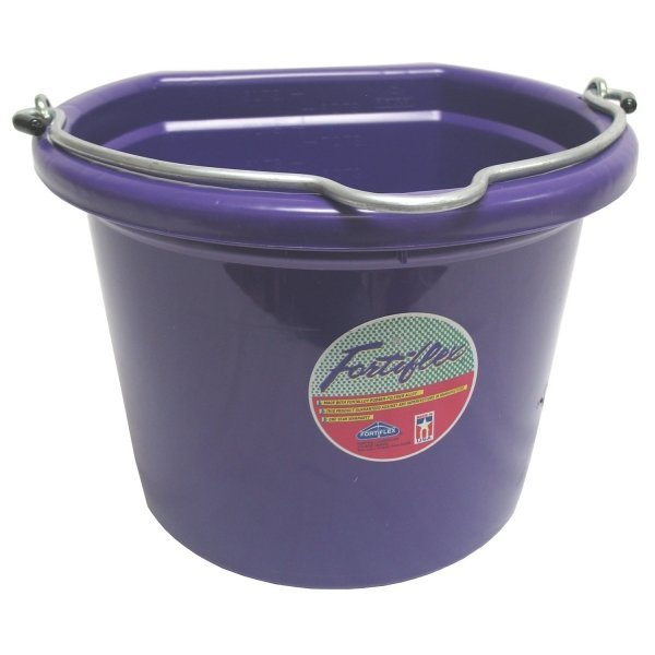 Flatback Bucket 8 qt. / Purple Best Price