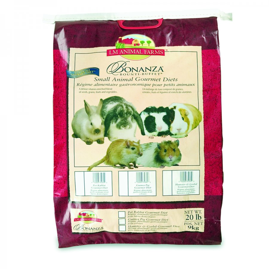 Bonanza Gourmet Diet For Rabbits / Size 20 Lbs.