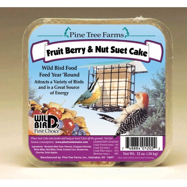 Fruit / Berry and Nut Suet Cake - 12 oz. Wild Bird Supplies ...