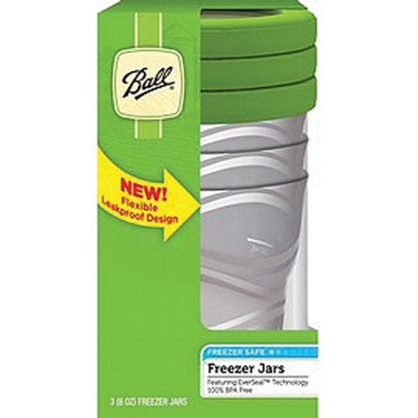 Ball Plastic Freezer Jar With Everseal - 8 oz./3 ct. Best Price