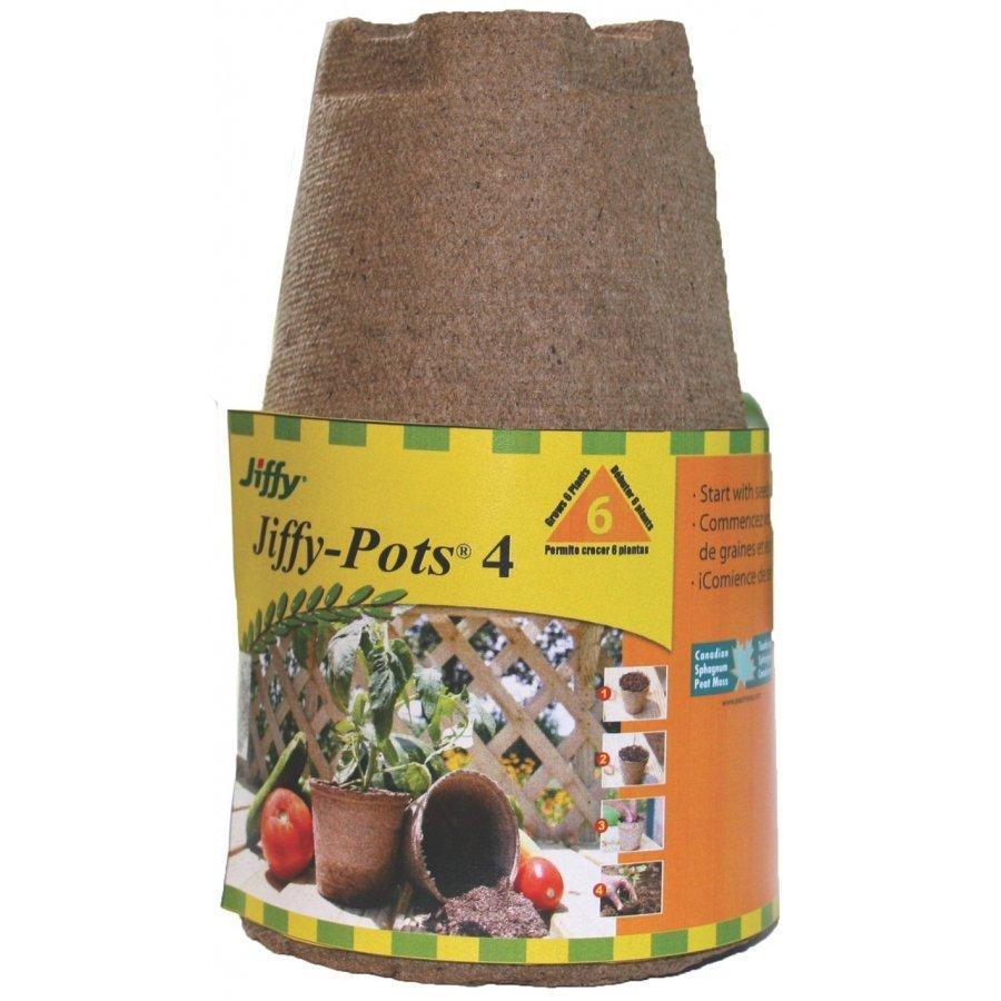 Jiffy Peat Pots  4 in. / 6 pk (Case of 28) Best Price