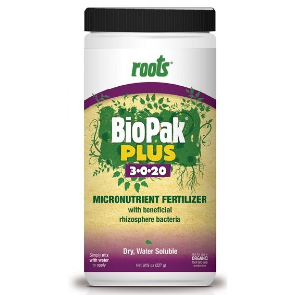 Roots Biopak Plus 3-0-20 Micronutrient Fertilizer - 8 oz. Best Price