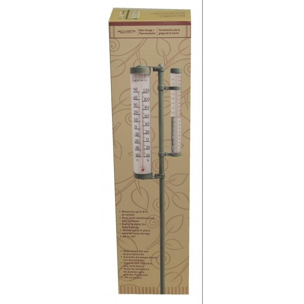 Rain Gauge and Thermometer - 42 in. Best Price