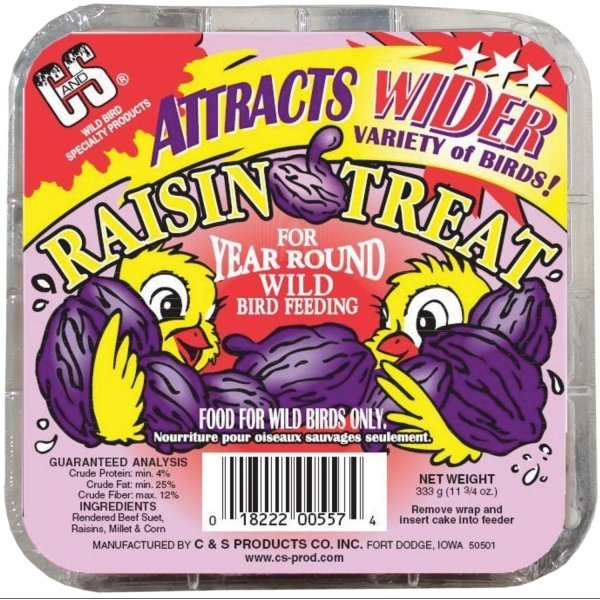 C and S Suet Treats 11.75 oz. / Flavor (Raisin) Best Price