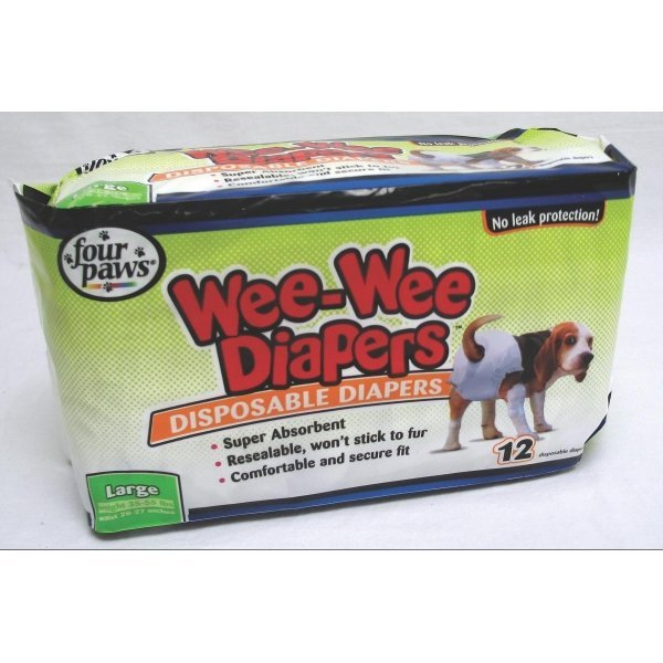 Wee-Wee Disposable Doggie Diapers / Size (Large) Best Price