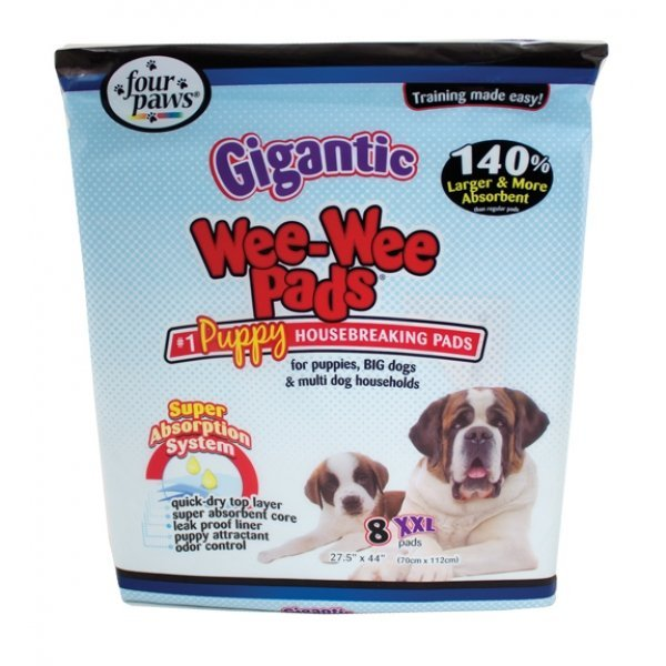 Gigantic Dog Wee Wee Pads - 8 pk. Best Price