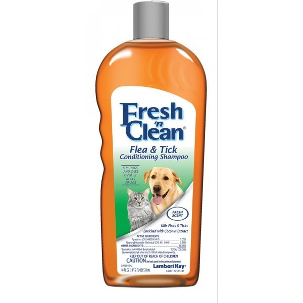 Fresh N Clean Flea Tick Shampoo New Formula 18 Oz.