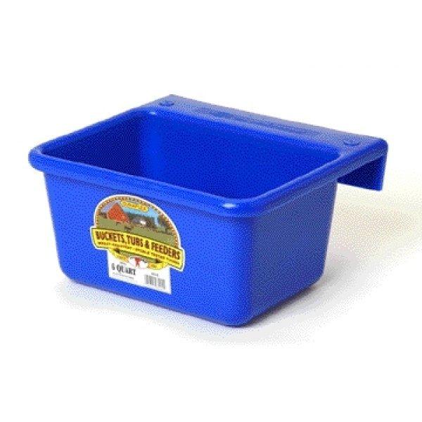 Mini Feeder for Farm Animals - 6 quart / Color (Blue) Best Price