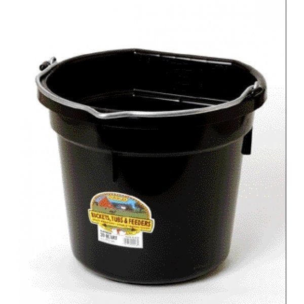 20 Quart Flatback Bucket / Color (Black) Best Price