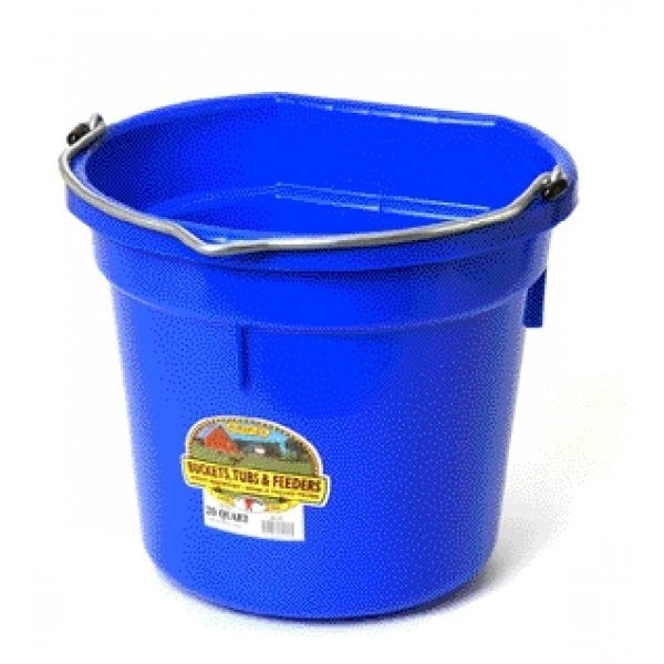 20 Quart Flatback Bucket / Color (Blue) Best Price