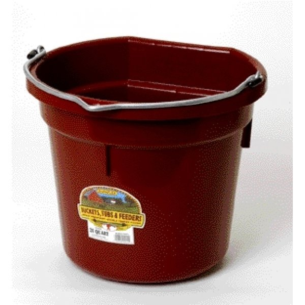 20 Quart Flatback Bucket / Color (Burgundy) Best Price