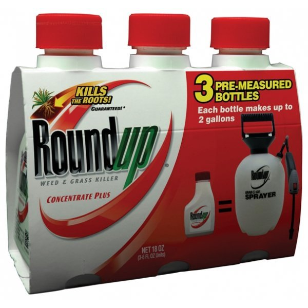 Round Up Weed Killer Conc. 3 pk / 6 oz. ea. (Case of 8) Best Price