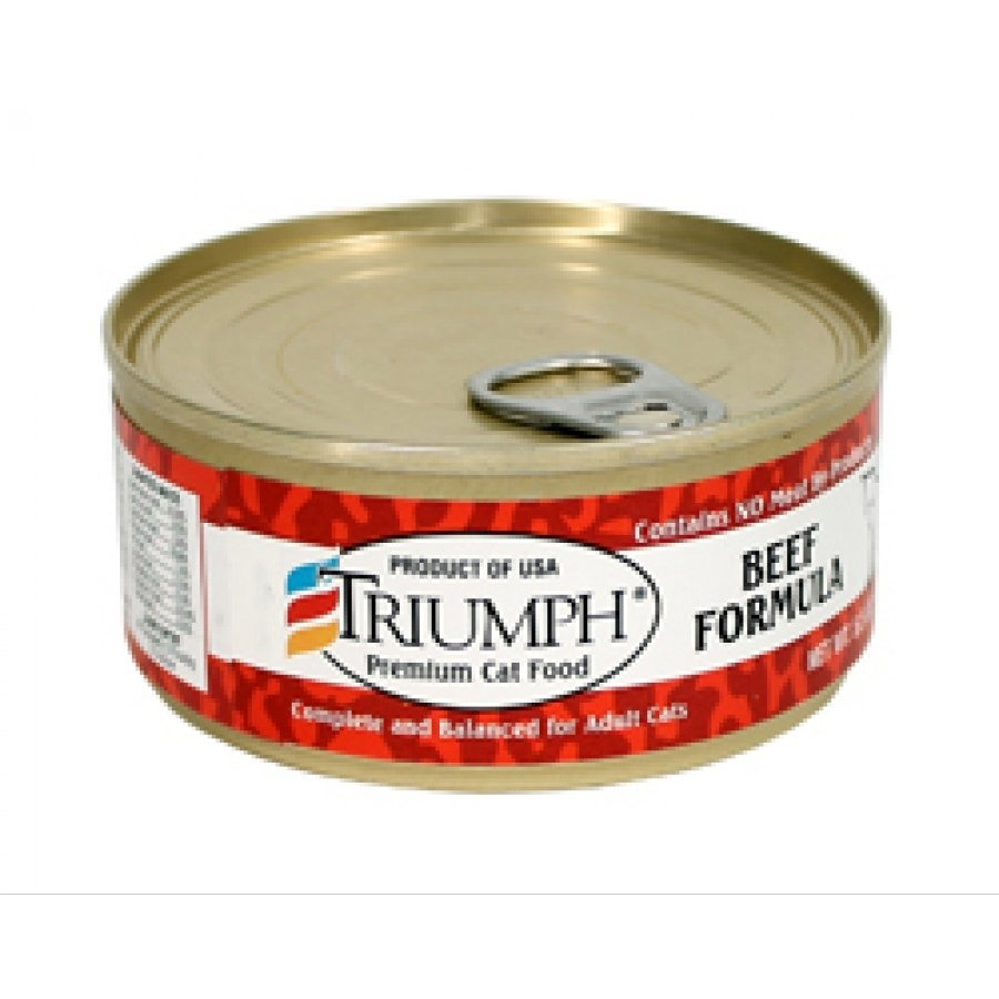 Triumph Canned Cat Food - Beef 5.5 oz. each (Case of 24) Best Price