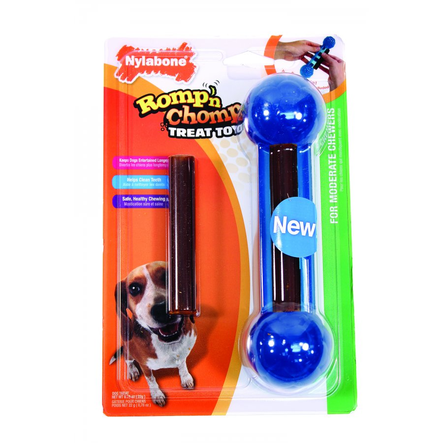 Romp N Chomp Knobby Treat Toy Treats Included Large