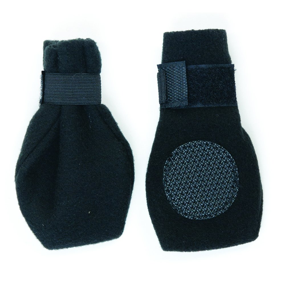 Arctic Fleece Pet Boots - Set of 4 / Size (Large Black) Best Price