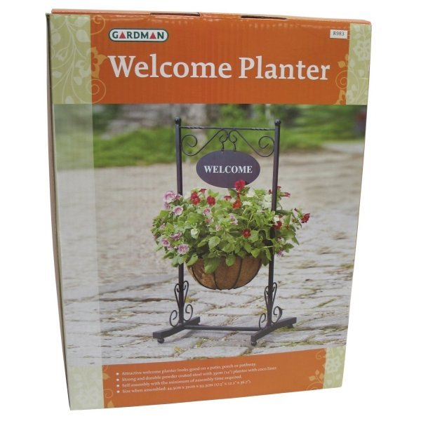 Blacksmith Flower Planter and Welcome Sign Best Price