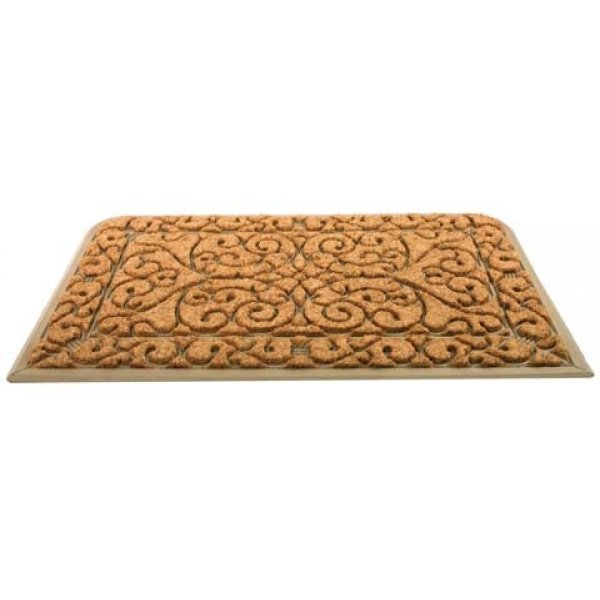 Rectangular Brown Scroll Doormat - 24 x 39 in. Best Price