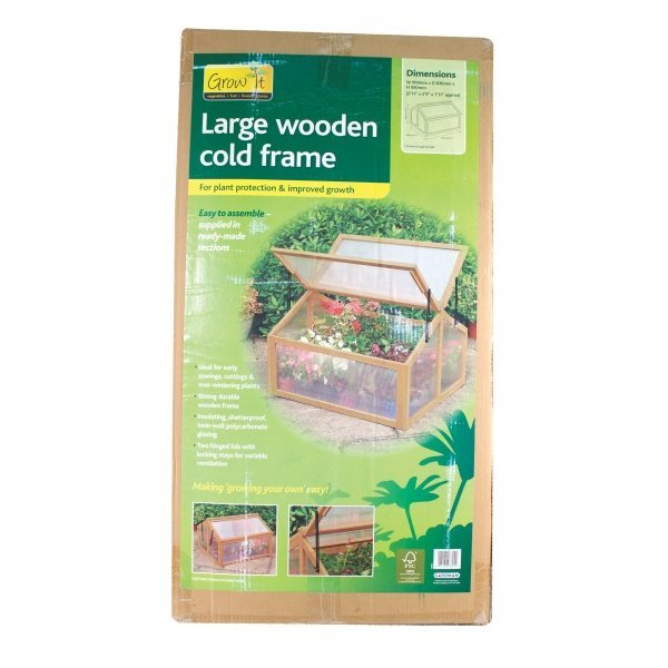 Large Wooden Cold Frame Greenhouse Best Price