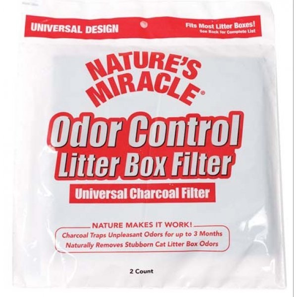 Odor Control Universal Charcoal Filter 2 Pack