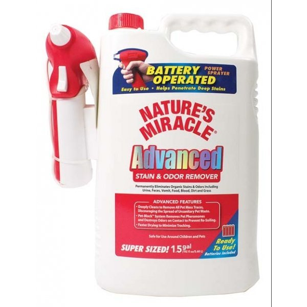 Nat. Miracle Adv. Stain and Odor Remover Power Spray - 1.5 GALLON Best Price