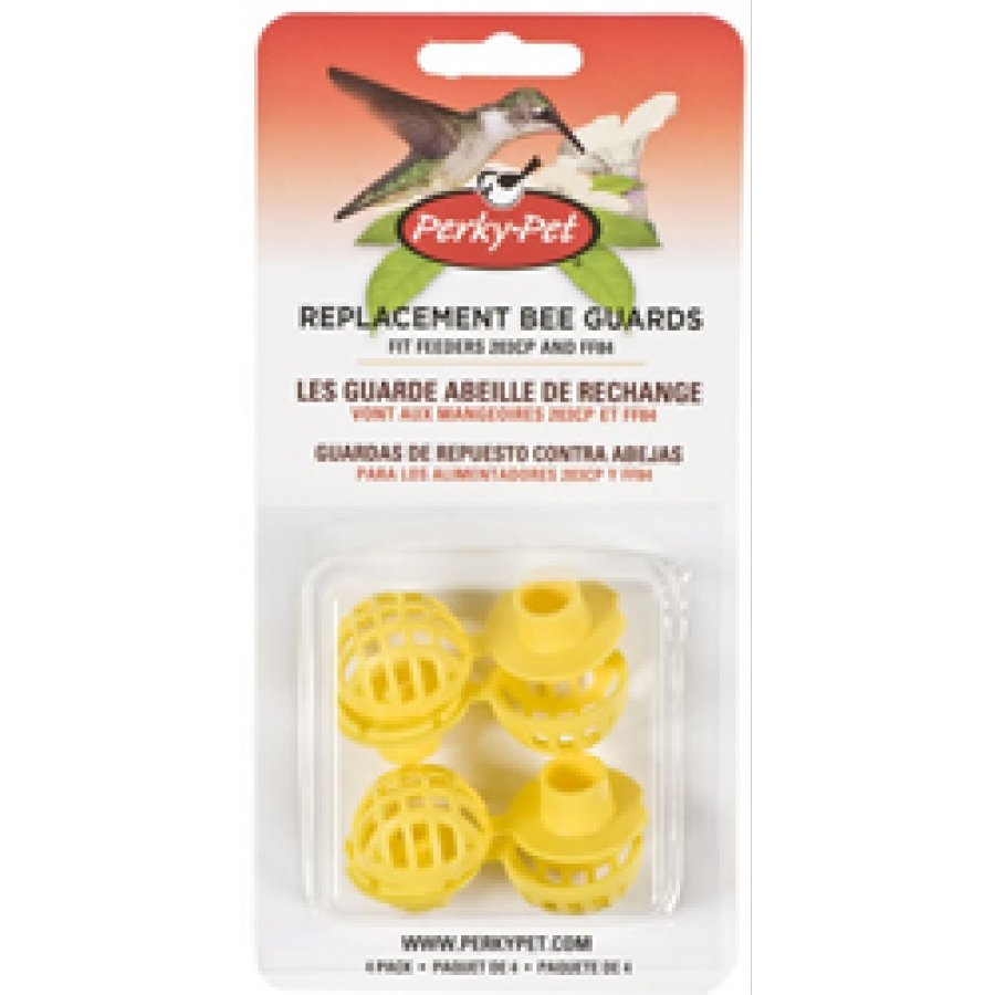Yellow Bee Guards for Perky Pet Hummingbird Feeders - 4 pack Best Price