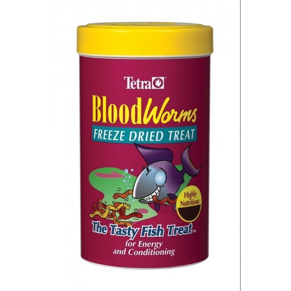 Tetra Blood Worms For Bettas And Fancy Guppies .28 Oz.