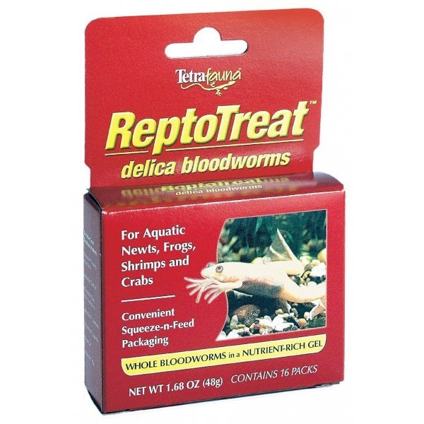 Reptotreat Delica Bloodworms For Reptiles 1.7 Oz.
