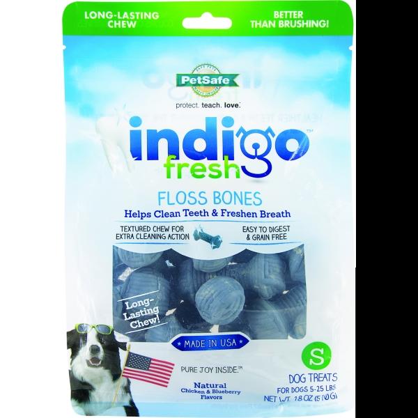 Indigo Fresh Floss Bones For Dogs / Size Small