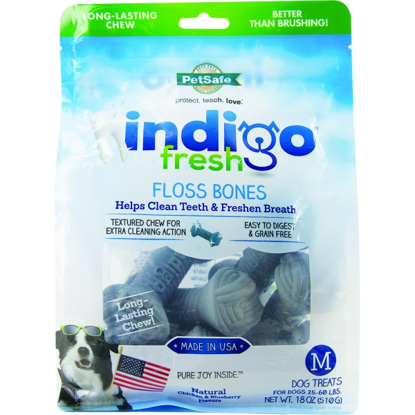 Indigo Fresh Floss Bones For Dogs / Size Medium