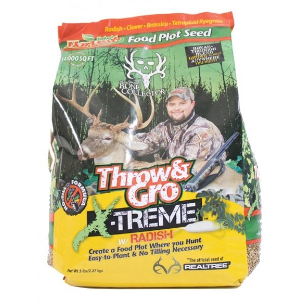 Bone Collector Throw and Gro X-treme With Radish - 1/4 ACRE Best Price