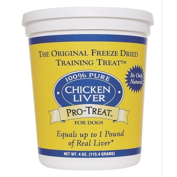 Freeze Dried Chicken Liver Dog Treat / Size 4 Oz.