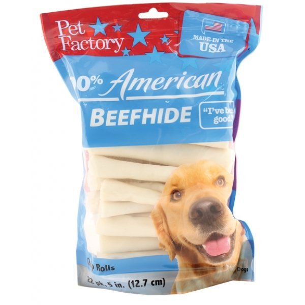 100 Percent American Beefhide Chip Rolls 5 in / 22 pack Best Price