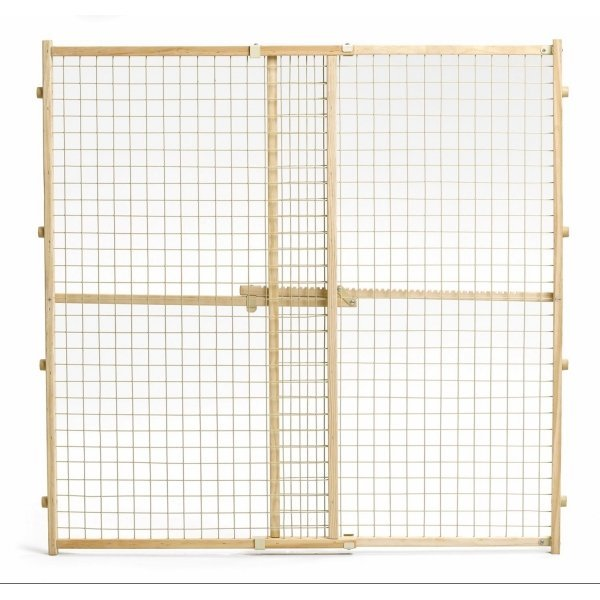 Wood and Wire Mesh Pressure Pet Gate / Size (44 in.) Best Price