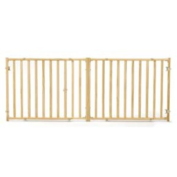 Extra-Wide Wood Pet Gate - 53-96IN X 24IN